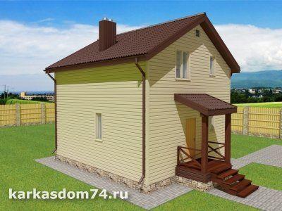 Проект двух этажного дома 100,5 м²