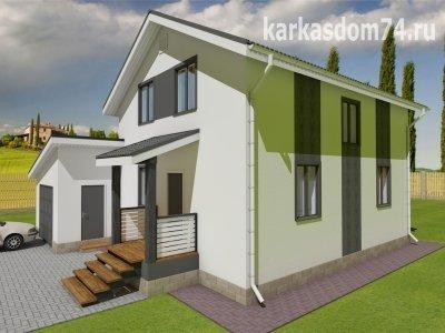 Проект двух этажного дома 125 м²