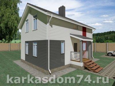 Проект двух этажного дома 130 м²