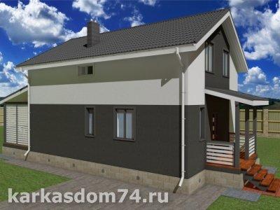 Проект двух этажного дома 131 м²