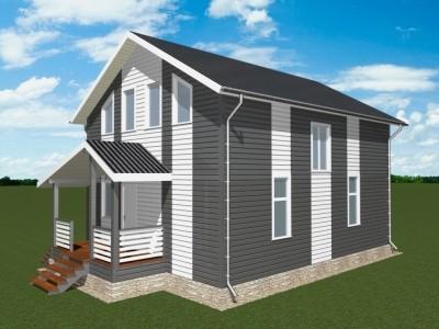 Проект двух этажного дома 140 м²