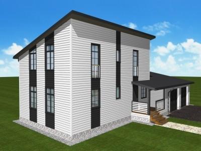 Проект двух этажного дома 141 м²