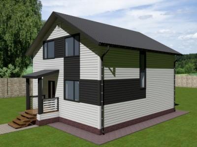 Проект двух этажного дома 147 м²