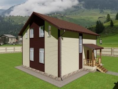 Проект двух этажного дома 166 м²