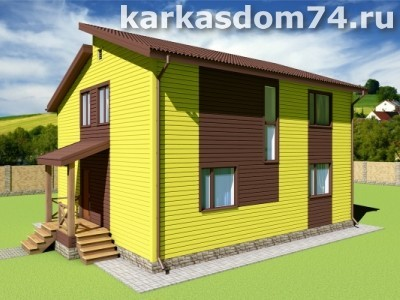 Проект двух этажного дома 189 м²
