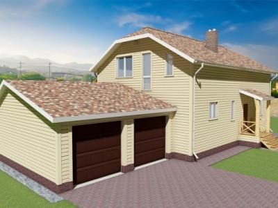 Проект двух этажного дома 195 м²
