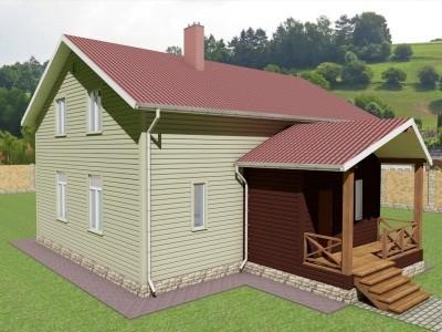 Проект двух этажного дома 246,5 м²
