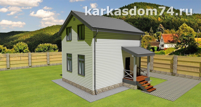 Проект общий вид каркасного дома