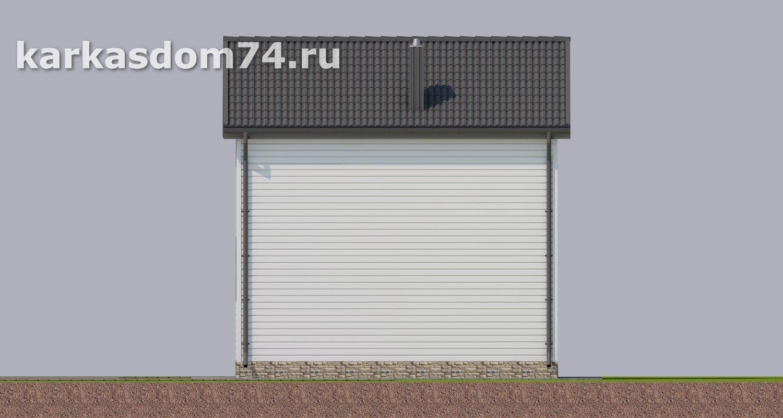 Северный фасад каркасного дома проект