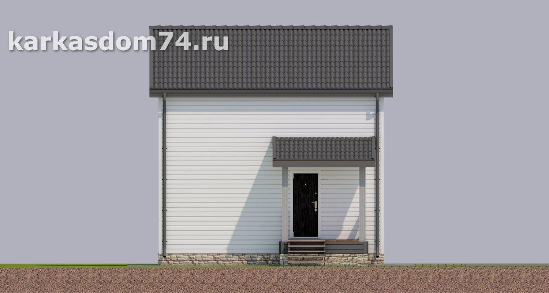 Южный фасад каркасного дома проект