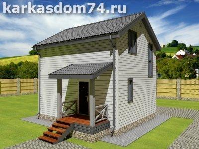 Проект двух этажного дома 73,5 м²
