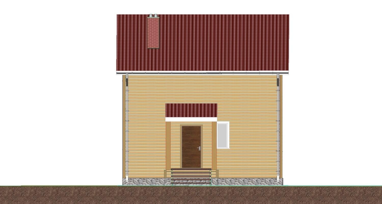 Восточный фасад каркасного дома проект