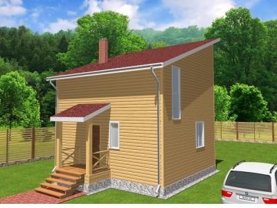 Проект двух этажного дома 81,5 м²