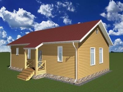 Проект одно этажного дома 97,5 м²